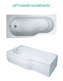 Phoenix Space Left Hand Shower Bath 1700 x 800mm With Bath Panel