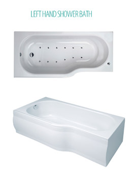 Phoenix Space LH System 2 Airpool Bath 1700 x 800mm With Panel