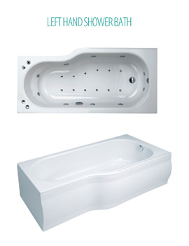 Phoenix Space Left Hand Whirlpool And Airpool Bath And Panel