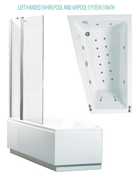 Phoenix Taranto System 3 Shower Bath With Screen And Panel