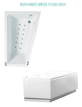 Phoenix Saranto Airpool System 2 Corner Bath With Bath Panel