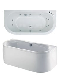 Phoenix Dee Bow Fronted System 1 Bath 1700 x 800mm With Panel