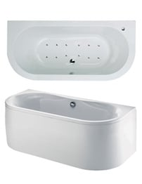 Phoenix Dee Bow Fronted System 2 Bath 1700 x 800mm With Panel