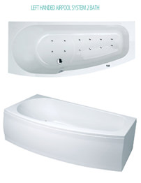 Phoenix Compact Left Hand System 2 Shower Bath With Panel