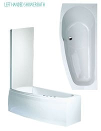 Phoenix Compact Left Hand Shower Bath With Screen And Bath Panels