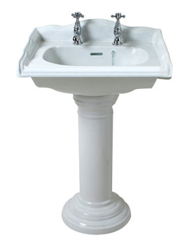 Phoenix Balmoral 530mm Square Cloakroom Basin And Full Pedestal