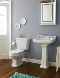 Lauren Carlton 4 Piece White Cloakroom Suite