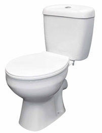 Lauren Melbourne Close Coupled Pan And Cistern With Seat