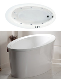 Phoenix Conamore System 1 Oval Bath With White Surround