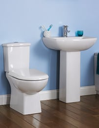 Lauren Asselby 4 Piece White Cloakroom Suite