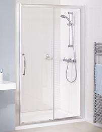 Lakes Classic Silver Semi-Frameless Slider Door 1500 x 1850mm