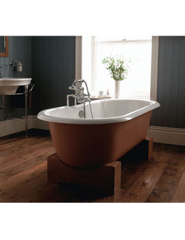 Imperial Bentley Madera Cast Iron Bath With Unfinished Oak Cradle