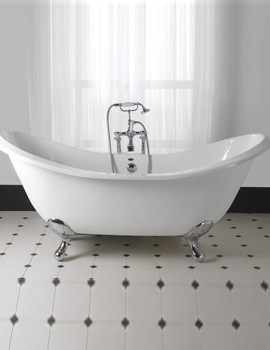 Imperial Sheraton 1800mm Slipper Bath With Ball G-H Cast Iron Feet