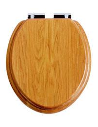 Heritage Soft Close Oak WC Seat