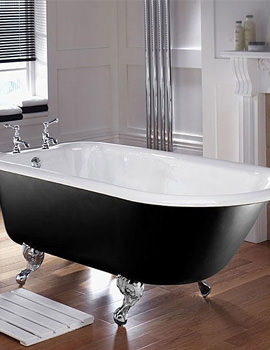 Imperial Waldorf 1700mm Cast Iron Bath With White Feet