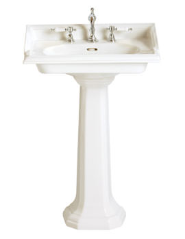 Heritage Dorchester 3 Tap Hole Square Basin And Pedestal
