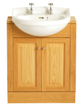 Heritage Dorchester Medium 2 Tap Hole Semi Recessed Basin