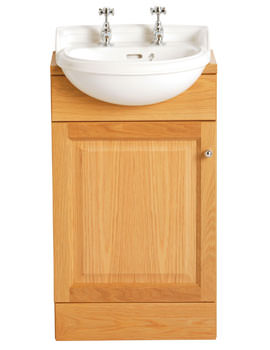 Heritage Dorchester 2 Tap Hole Semi Recessed Cloakroom Basin
