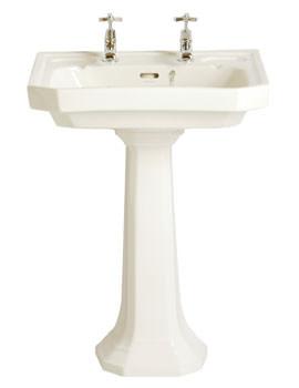 Heritage Granley Traditional 600mm White Deco Standard Basin