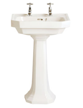 Heritage Granley Deco 2 Tap Hole Basin 550mm