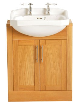 Heritage Granley 540mm Semi-Recessed Basin