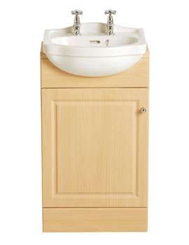 Heritage Rhyland Cloakroom Semi Recessed 2 Tap Hole Basin