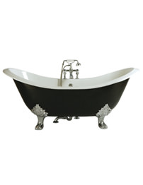 Heritage Devon 2 Taphole Cast Iron Bath With Feet 1800 x 770mm