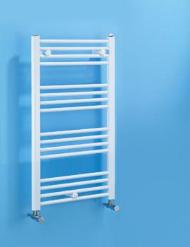 Biasi Dolomite Straight White Heated Towel Rail 600 x 1100mm