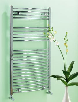Biasi Dolomite Curved Chrome Heated Towel Rail 500 x 1100mm