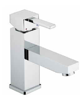 Bristan Quadrato Bristan Basin Mixer Tap With Eco-click Without Waste
