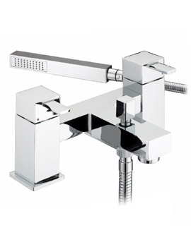 Bristan Quadrato Bath Shower Mixer Tap With Shower Kit