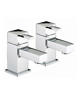 Bristan Quadrato Chrome Plated Bath Taps Pair