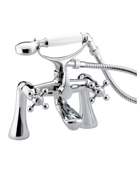 Bristan Regency Chrome Bath Shower Mixer Tap With Tall Pillars