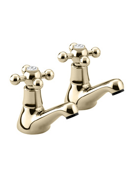 Bristan Regency Gold Plated Basin Taps Pair