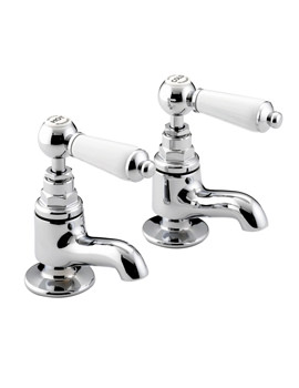 Bristan Renaissance Chrome Plated Vanity Basin Taps Pair