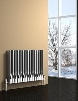 Reina Nerox Double 826 x 600mm Brushed Stainless Steel Radiator