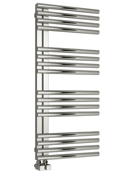 Reina Adora 500mm Wide Polished Stainless Steel Designer Towel Rail