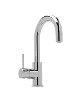 Tre Mercati Milan Side Lever Mono Basin Mixer Tap With Pop-up Waste