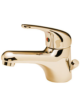 Tre Mercati Modena Gold Mono Basin Mixer With Side Pop-up Waste