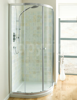 Simpsons Edge Double Door Offset Quadrant Shower Enclosure 1200 x 900mm