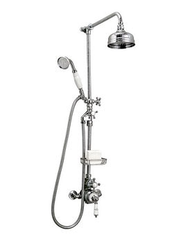 Imperial Victorian Exposed Shower Valve With Handset and 5 Inch Head