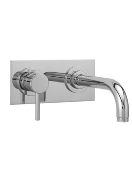 Tre Mercati Milan 2 Hole Wall Mounted Basin Mixer Tap With Short Spout