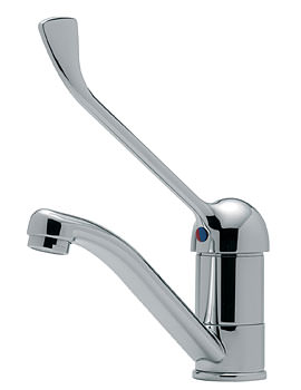 Tre Mercati Modena Mono Basin Mixer With Extended Lever And Swivel Spout