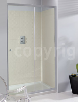 Simpsons Edge 1100mm Single Slider Shower Door