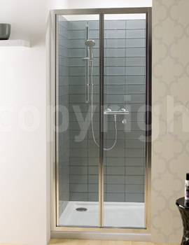 Simpsons Edge 900mm Bifold Shower Door