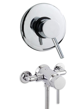 Tre Mercati Milan Exposed-Concealed Manual Shower Valve