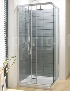 Simpsons Edge 900mm Corner Entry Shower Enclosure