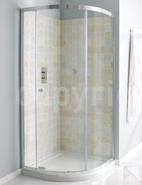 Simpsons Edge Single Door Offset Quadrant Shower Enclosure 1000 x 800mm
