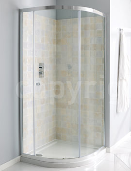 Simpsons Edge Single Door Offset Quadrant Shower Enclosure 1200 x 900mm