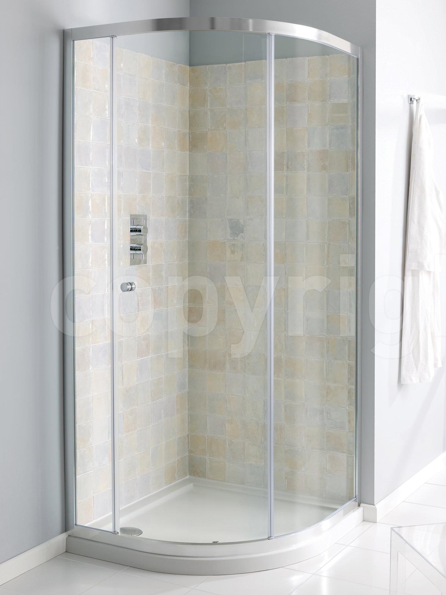 Simpsons edge single door quadrant shower enclosure 800 x for Simpson doors glass